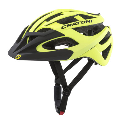 CRATONI - C-HAWK - Casco BTT neon yellow/black rubber