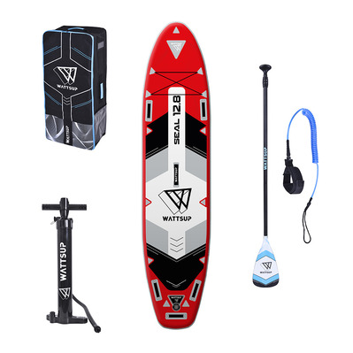 WATTSUP - SEAL 12'8' 2020 - Inflatable SUP Board - red + Accessories