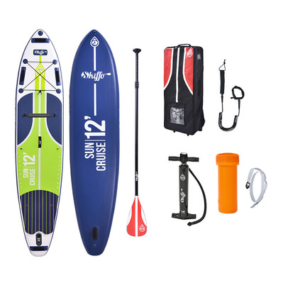 SKIFFO - SUN CRUISE 12' - Inflatable SUP Board - blue/green + Accessories