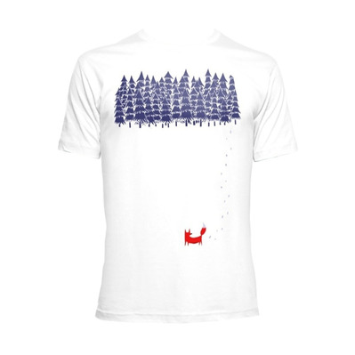 TIME40 - Time 40 ALONE IN THE FOREST - Camiseta hombre white