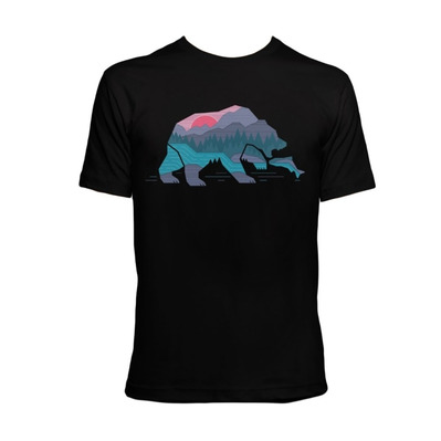 TIME40 - Time 40 BEAR COUNTRY - Camiseta hombre negro