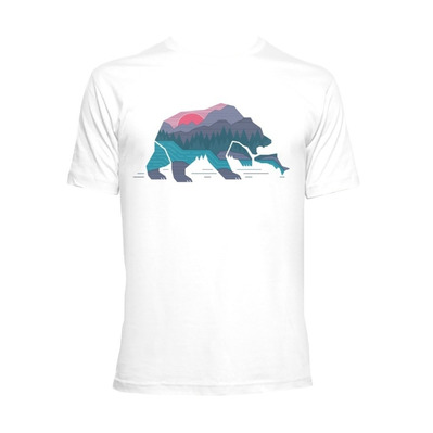 TIME40 - Time 40 BEAR COUNTRY - Camiseta hombre white