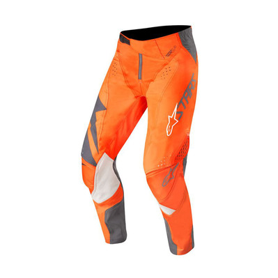 alpinestars - TECHSTAR FACTORY - Pants - Men's - anthracite/orange fluo