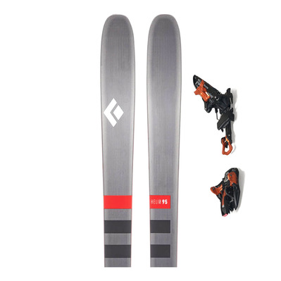 BLACK DIAMOND - HELIO 95 SKIS + KINGPIN 13 - Touring Skis + Bindings - black/copper