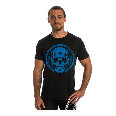 NORTHERN SPIRIT - BLUE SKULL - Camiseta hombre black