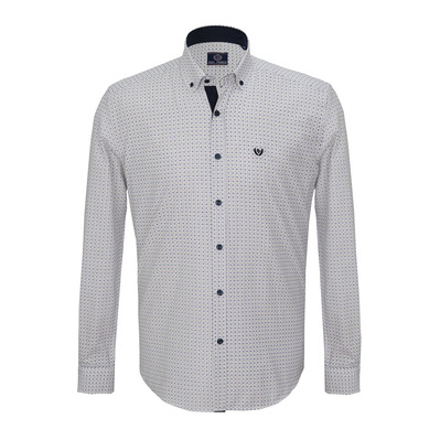 PAUL PARKER - GE 130 2020 - Shirt - Men's - white/navy plaid