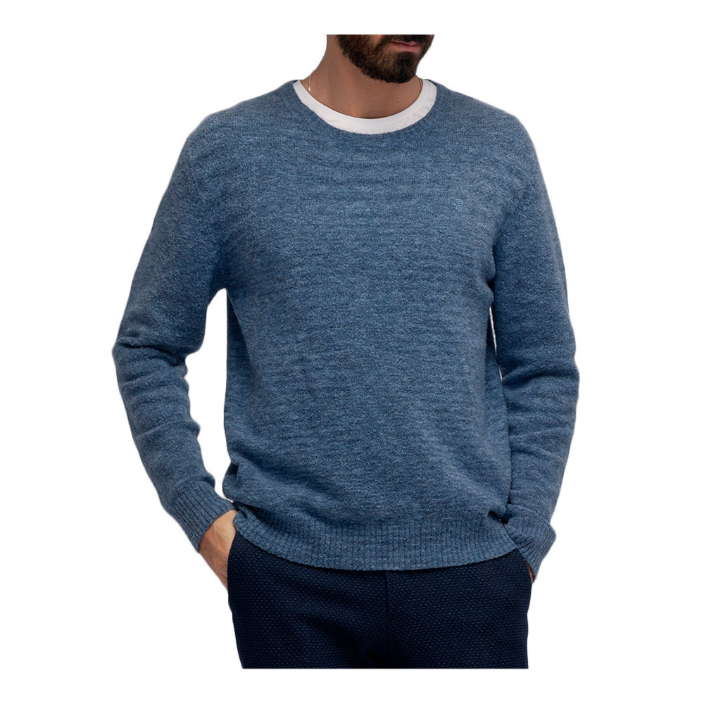 Outlet Tallas Grandes Serge Blanco Pul1101a Jersey Hombre Cornflower Private Sport Shop