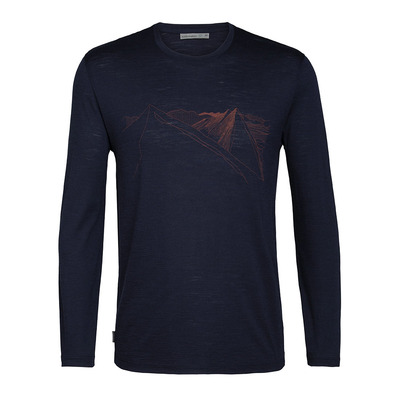 ICEBREAKER - SPECTOR PEAKREACH - T-shirt Uomo midnight navy