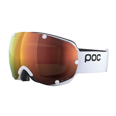 POC - LOBES CLARITY - Masque ski hydrogen white/spektris orange