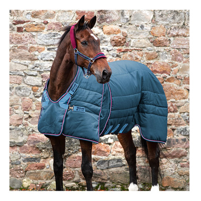 HORSEWARE - OPTIMO STABLE RUG - Manta de cuadra 200g navy/burg