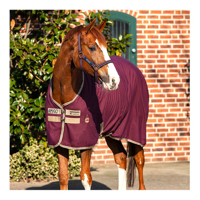 HORSEWARE - AMIGO STABLE SHEET - Manta de cuadra fig/navy&t