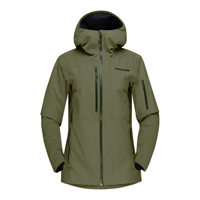 NORRONA - LOFOTEN INSULATED GTX - Chaqueta mujer olive night
