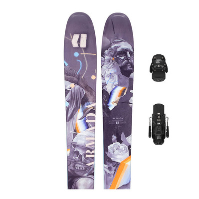 ARMADA - ARV 106 + N WARDEN MNC 13 - Pack skis backcountry + Fixations Homme