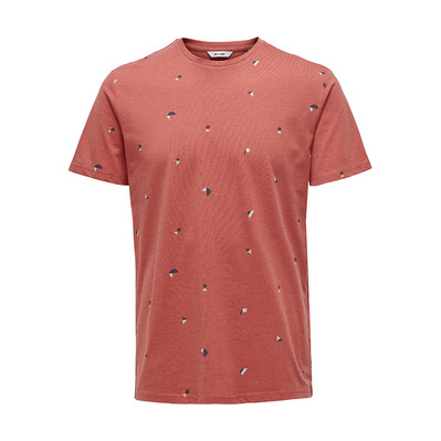 ONLY & SONS - KNIT CO100 - T-Shirt - Men's - cranberry