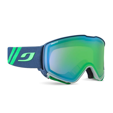 JULBO - QUICKSHIFT - Masque de ski bleu/flash vert