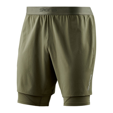 SKINS - SUPERPOSE DNAMIC - 2 in 1 Shorts - Men's - utility