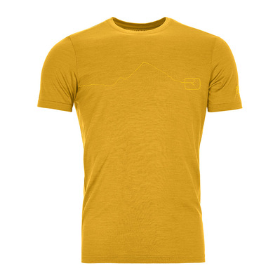 ORTOVOX - 120 TEC MOUNTAIN - Funktionsshirt - Männer - yellowstone
