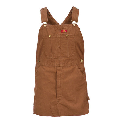 Dickies - HOPEWELL DENIM - Latzkleid - Frauen - rinsed brown