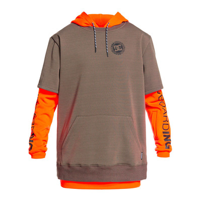 DC SHOES - DRYDEN - Sweat Homme shocking orange