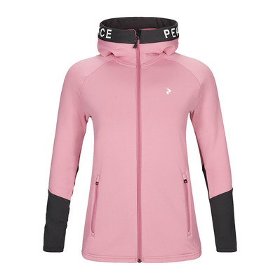 PEAK PERFORMANCE - W Rider Zip Hood Frosty Rose Femme Frosty Rose