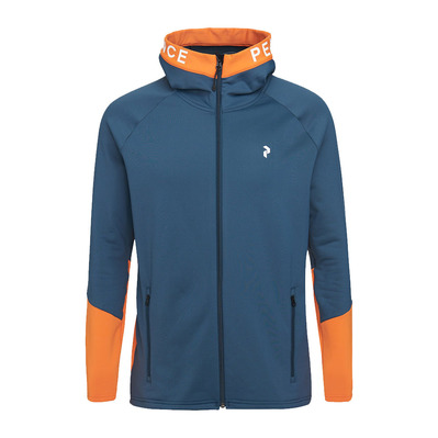 PEAK PERFORMANCE - M Rider Zip Hood Blue Steel Homme Blue Steel