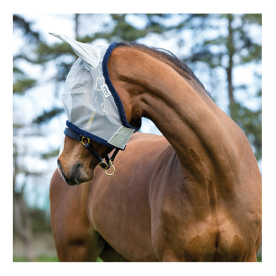 HORSEWARE - AMIGO FINEMESH - Masque anti-mouches silver/navy