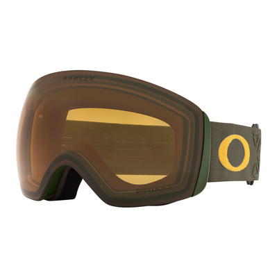 OAKLEY - FLIGHT DECK XL - Masque ski prizm icon dark brush mustar/prizm snow persimmon