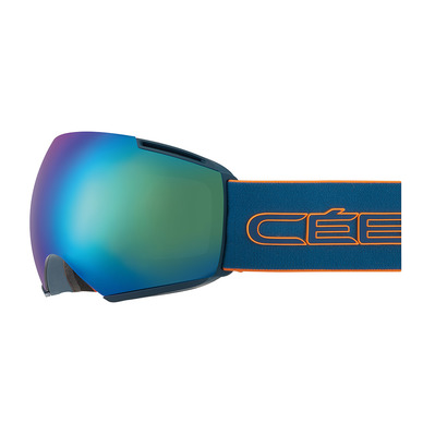 CEBE - ICONE - Masque ski petrol orange/brown flash blue + amber flash mirror
