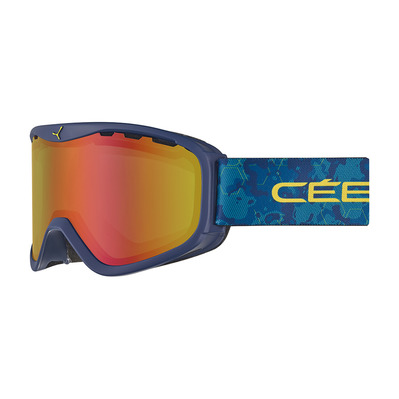 CEBE - RIDGE OTG - Masque ski photochromique dark blue/camo/vario perfo amber flash red