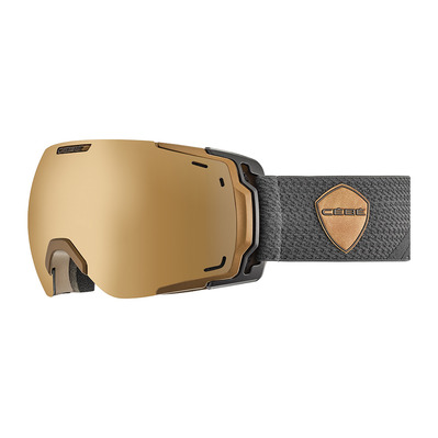CEBE - FATEFUL - Masque ski photochromique matt black/copper/vario perfo amber flash mirror