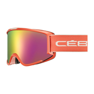 CEBE - SILHOUETTE - Masque ski matt coral/white/rose flash pink