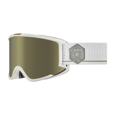 CEBE - SILHOUETTE - Masque ski matt white/dark rose flash gold