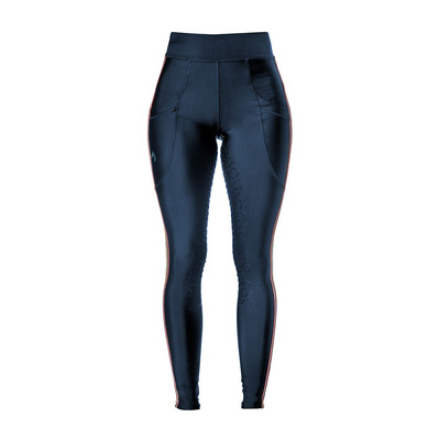 JACSON - SELMA COM - Silicone Seat Panel Leggings - Women's - navy/pink