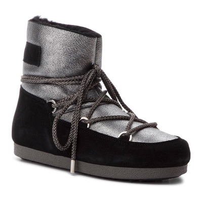 MOON BOOT - F.SIDE LOW - Apres-Ski - Women's - silver/black