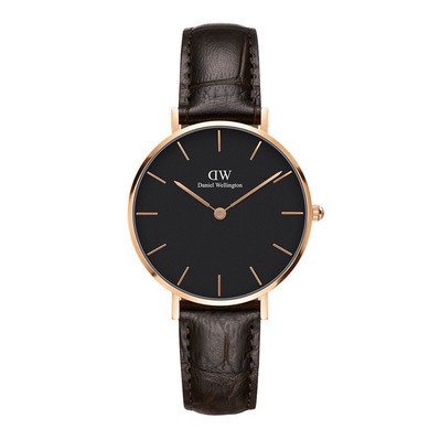 DANIEL WELLINGTON - PETITE YORK 32mm - Reloj de cuarzo mujer black/brown/pink gold