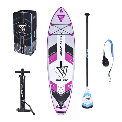 "WATTSUP - JELLY 9'6"" 2020 - Inflatable SUP Board - Women's - light grey/purple + Accessories"