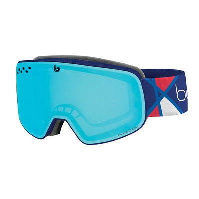 BOLLE - NEVADA Alexis Pinturault Signature Series Matte Phantom Vermillon Blue Cat 1 to 3 Unisexe Bleu