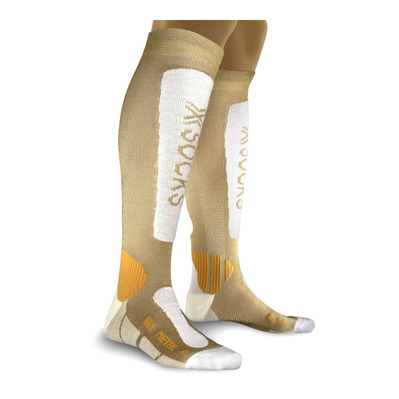 XSOCKS - X-Socks SKI METAL - Calze Donna gold/white
