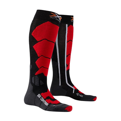 XSOCKS - X-Socks SKI CONTROL - Calze black/red