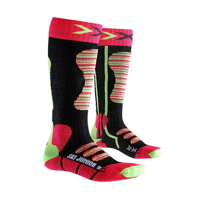 XSOCKS - X-Socks SKI - Calze Junior coral/green