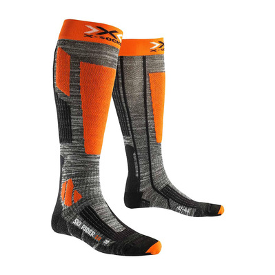 XSOCKS - X-Socks SKI RIDER 2.0 - Calze grey melange/orange