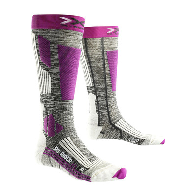 XSOCKS - X-Socks SKI RIDER 2.0 - Calze Donna grey melange/purple