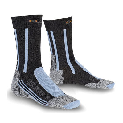 XSOCKS - X-Socks TREK SILVER - Calze Donna anthracite/blue