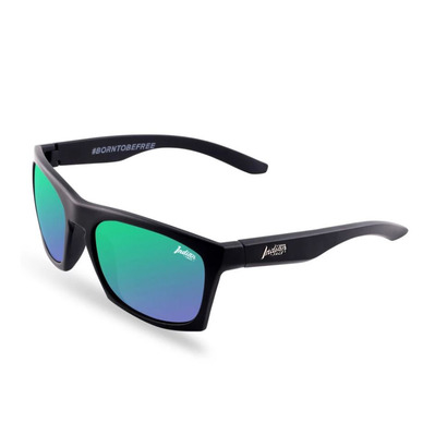 THE INDIAN FACE - BARREL - Polarised Sunglasses - black/green