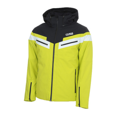 COLMAR - MENS SKI JACKET Homme LIME-BLACK-WHITE1356-1VC-301