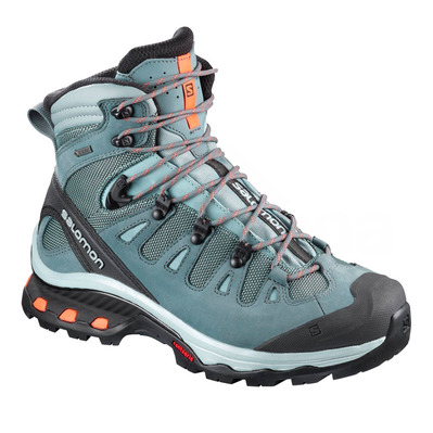 SALOMON - QUEST 4D 3 GTX - Zapatillas de senderismo mujer lead/stormy weather/bird