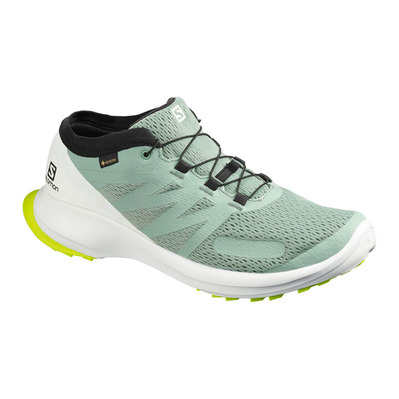 SALOMON - SENSE FLOW GTX - Zapatillas de trail hombre green milieu/white/safety yellow