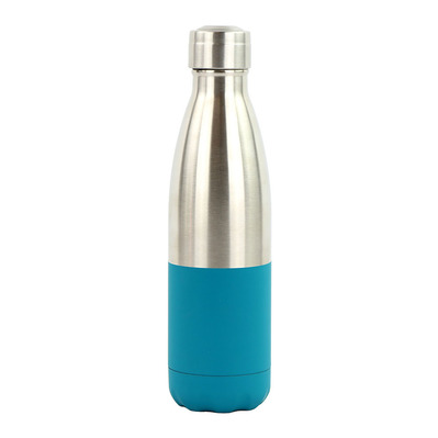 YOKO DESIGN - DUO - Bottiglia isotermica 500ml silver/blue