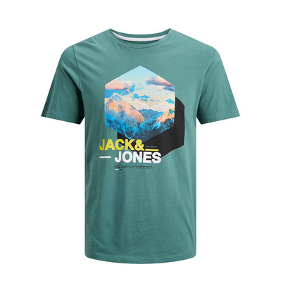 JACK & JONES - MALE JCOMOUNTAIN - Tee-shirt Homme north atlantic