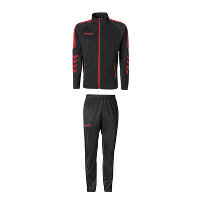 HUMMEL - CLUB CORE - Tracksuit - black/red